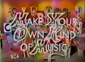 """The cast sings the theme to """"Make Your Own Kind of Music"""" on the first episode that aired on July 20, 1971."""