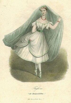 La fille du Danube - Marie Taglioni as the Daughter of the Danube (circa. 1836)