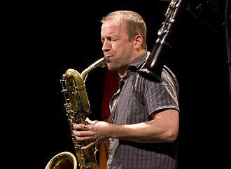 """Mats Gustafsson - Mats Gustafsson at """"Sonore"""" concert, Lviv, 14 Dec 2008"""