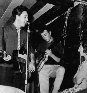 The Casbah Coffee Club -  McCartney and Lennon playing on the opening night of The Casbah Coffee Club.