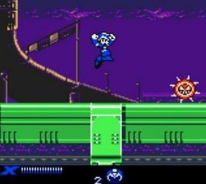 Mega Man Xtreme - The player character X approaches an enemy in the opening stage.