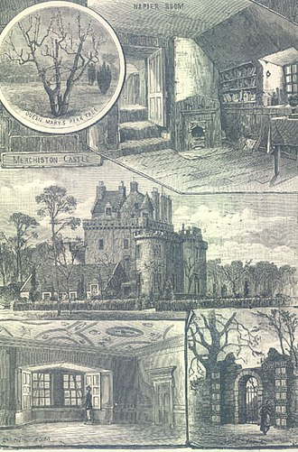 Merchiston Tower -  Images of Merchiston Tower as it appeared in 1883, after renovations done by the Merchiston Castle School.