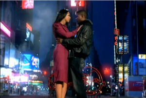 My Boo (Usher and Alicia Keys song) - Usher and Alicia Keys in Times Square.