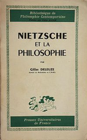 Nietzsche and Philosophy - Cover of the first edition