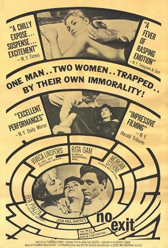 No Exit (1962 film) - Theatrical release poster