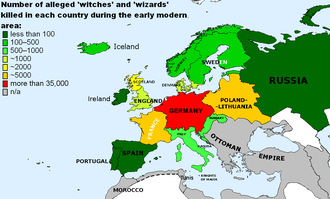 Number of alleged witches and wizards killed in each European country during Early Modern Era Number of alleged witches and wizards killed in Europe during the Early Modern Era.png