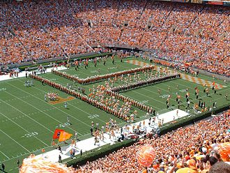 Pride of the Southland Band - The Pride of the Southland opening the famous T.