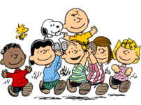 Some of the Peanuts gang