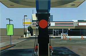 Peter Cain (artist) - Peter Cain, Mobil, 1996, oil on linen, 37 x 57 inches