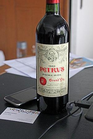 Pétrus (wine) - A bottle of Petrus 1982.