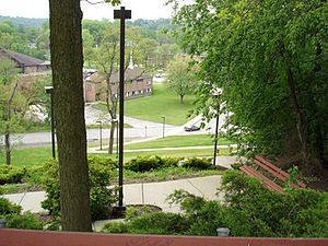 Penn State Greater Allegheny - The hill leading from McKeesport hall to central campus.