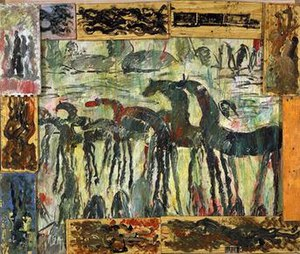 Purvis Young - Untitled by Purvis Young, ca. 1988, in the collection of the Smithsonian American Art Museum