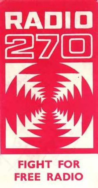 Radio 270 - Radio 270 car window sticker from 1967