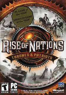 <i>Rise of Nations: Thrones and Patriots</i> 2004 American strategy video game expansion