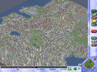 SimCity 3000 - A mature city in SimCity 3000, featuring a population higher than 1 million