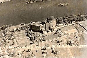 History of St. Cloud Hospital - Image: Schaerial 1932