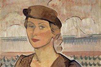 Elise Blumann - Self portrait, 1937, oil on canvas, 52.5 x 62.5cm, Cruthers Collection of Women's Art, The University of Western Australia