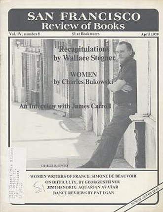 San Francisco Review of Books - Charles Bukowski on the cover of the April 1979 issue.