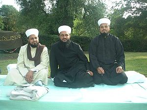 Abdul Wahab Siddiqi - Siddiqi brothers  Left to right: Shaykh Zain-ul-Aqtab Siddiqi, Shaykh Faiz-ul-Aqtab Siddiqi, Shaykh Noor-ul-Aqtab Siddiqi