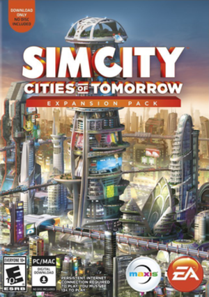 SimCity (2013 video game) - SimCity: Cities of Tomorrow cover art