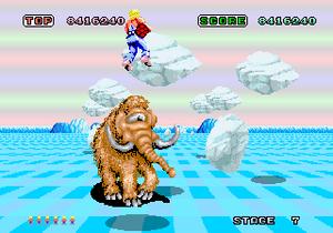 Space Harrier - Arcade gameplay of Space Harrier
