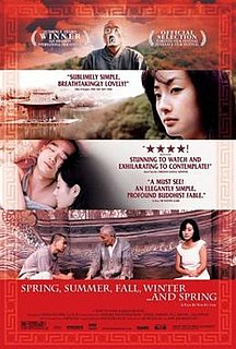 <i>Spring, Summer, Fall, Winter... and Spring</i> 2003 South Korean film directed by Kim Ki-duk
