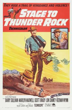 Stage to Thunder Rock - Theatrical release poster