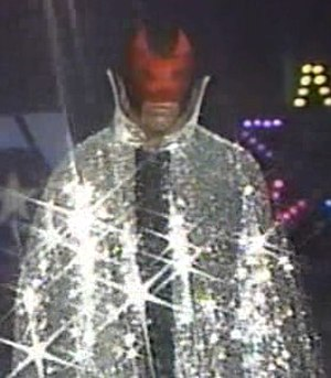 Starrcade (1990) - The Black Scorpion before his match at Starrcade