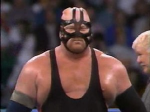 Starrcade (1993) - Vader, the WCW World Heavyweight Champion, before his match at Starrcade
