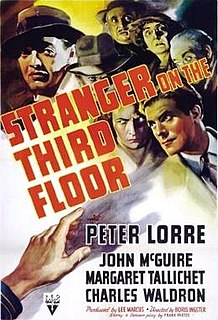 <i>Stranger on the Third Floor</i> 1940 film by Boris Ingster