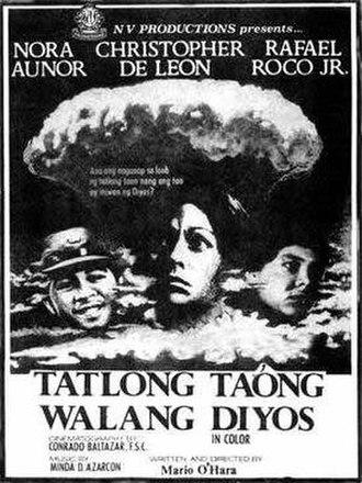 Tatlong Taong Walang Diyos - 1976 theatrical release poster