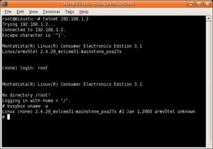 Telnet to MOTOROKR E6 in Linux CommandLine
