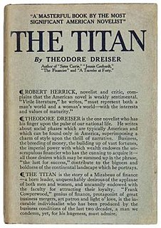 <i>The Titan</i> (novel) novel by Theodore Dreiser
