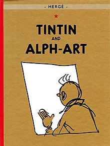 We see only a sketch of Tintin.