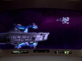 The Battle (Star Trek: The Next Generation) - The USS Stargazer as it appears to the Enterprise after it has performed the Picard Maneuver