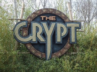 The Crypt (Kings Island) - The sign outside The Crypt at Kings Island.