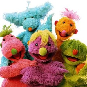 Jim Henson's The Hoobs - The Hoobs: Hubba Hubba (Blue), Roma (Orange), Tula (Pink), Iver (Purple) and Groove (Green)