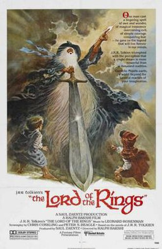 The Lord of the Rings (1978 film) - Theatrical release poster   by Tom Jung