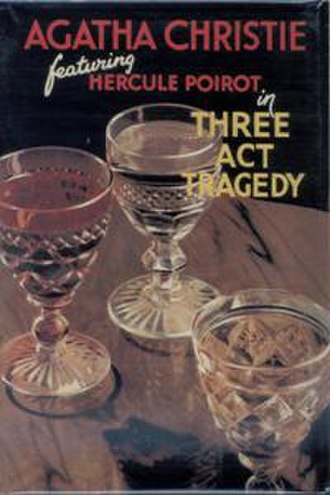 Three Act Tragedy - Dustjacket illustration of the UK First Edition (1935)