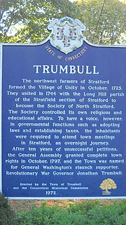 History of Trumbull, Connecticut
