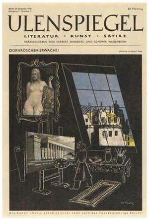 Ulenspiegel (magazine) - Image: Ulenspiegel cover