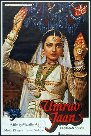 Tawaif - Rekha portraying Umrao Jaan in 1981 movie