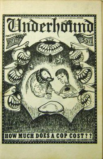 Chester Anderson - Underhound, vol. 1. no. 4 (1960). One of Chester Anderson's early little magazines, satirizing the beatnik coffee house scene in North Beach.