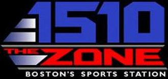 """WMEX (AM) - WWZN's logo as """"1510 the Zone"""", used from the fall of 2002 until December 2008"""
