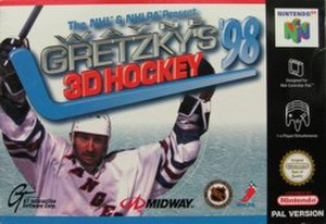 Wayne Gretzky's 3D Hockey '98 - Wayne Gretzky's 3D Hockey '98 box art.