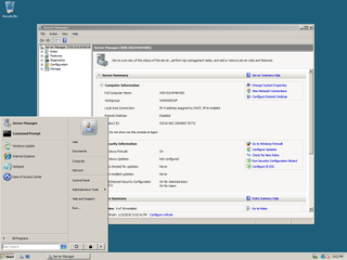 Windows Server 2008 server operating system by Microsoft released in 2008
