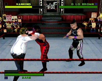 WWF Attitude - D'Lo Brown, Kane, and Mankind face off in a Triple Threat match.