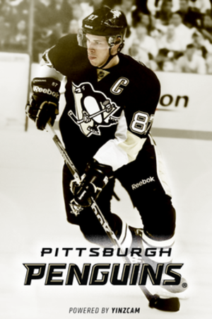 YinzCam - Screenshot of YinzCam's Pittsburgh Penguins app, January 2014