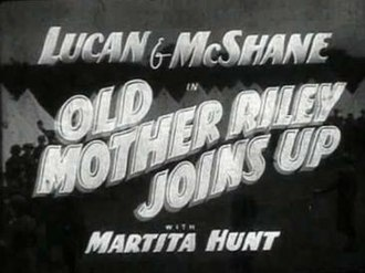 """Old Mother Riley Joins Up - Image: """"Old Mother Riley Joins Up"""" (1940)"""