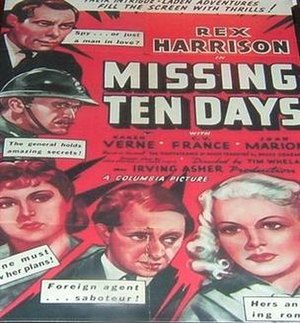 Ten Days in Paris - U.S. one sheet theatrical poster